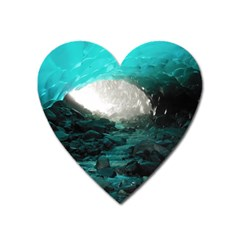 Mendenhall Ice Caves 2 Heart Magnet by trendistuff