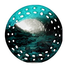 Mendenhall Ice Caves 2 Ornament (round Filigree)  by trendistuff