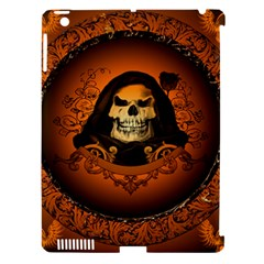 Awsome Skull With Roses And Floral Elements Apple Ipad 3/4 Hardshell Case (compatible With Smart Cover) by FantasyWorld7