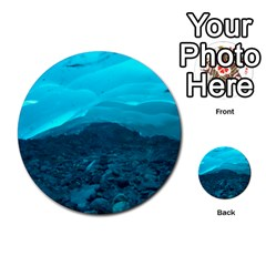 Mendenhall Ice Caves 1 Multi Purpose Cards (round)  by trendistuff