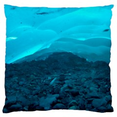 Mendenhall Ice Caves 1 Large Cushion Cases (one Side)  by trendistuff