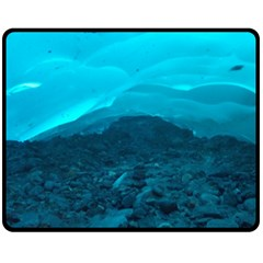 Mendenhall Ice Caves 1 Double Sided Fleece Blanket (medium)  by trendistuff