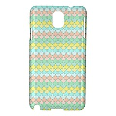 Scallop Repeat Pattern In Miami Pastel Aqua, Pink, Mint And Lemon Samsung Galaxy Note 3 N9005 Hardshell Case by PaperandFrill