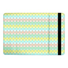 Scallop Repeat Pattern In Miami Pastel Aqua, Pink, Mint And Lemon Samsung Galaxy Tab Pro 10 1  Flip Case by PaperandFrill