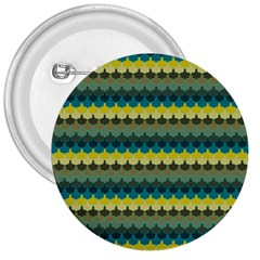 Scallop Pattern Repeat In  new York  Teal, Mustard, Grey And Moss 3  Buttons by PaperandFrill
