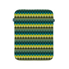Scallop Pattern Repeat In  new York  Teal, Mustard, Grey And Moss Apple Ipad 2/3/4 Protective Soft Cases by PaperandFrill