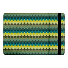 Scallop Pattern Repeat In  new York  Teal, Mustard, Grey And Moss Samsung Galaxy Tab Pro 10 1  Flip Case by PaperandFrill