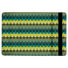 Scallop Pattern Repeat In  new York  Teal, Mustard, Grey And Moss Ipad Air 2 Flip