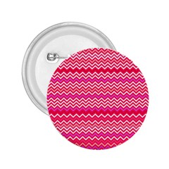 Valentine Pink And Red Wavy Chevron Zigzag Pattern 2 25  Buttons