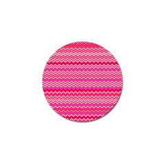 Valentine Pink And Red Wavy Chevron Zigzag Pattern Golf Ball Marker (4 Pack) by PaperandFrill
