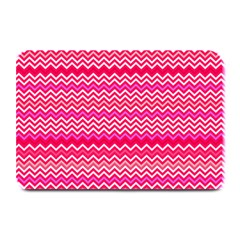 Valentine Pink And Red Wavy Chevron Zigzag Pattern Plate Mats by PaperandFrill