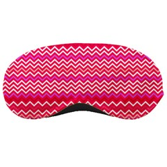 Valentine Pink And Red Wavy Chevron Zigzag Pattern Sleeping Masks by PaperandFrill