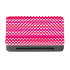 Valentine Pink And Red Wavy Chevron Zigzag Pattern Memory Card Reader With Cf by PaperandFrill