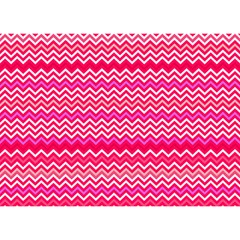 Valentine Pink And Red Wavy Chevron Zigzag Pattern Birthday Cake 3d Greeting Card (7x5)  by PaperandFrill