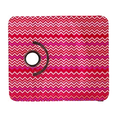 Valentine Pink And Red Wavy Chevron Zigzag Pattern Samsung Galaxy S  Iii Flip 360 Case by PaperandFrill