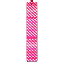 Valentine Pink And Red Wavy Chevron Zigzag Pattern Large Book Marks by PaperandFrill