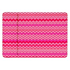 Valentine Pink And Red Wavy Chevron Zigzag Pattern Samsung Galaxy Tab 8 9  P7300 Flip Case by PaperandFrill