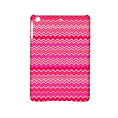 Valentine Pink And Red Wavy Chevron Zigzag Pattern Ipad Mini 2 Hardshell Cases by PaperandFrill