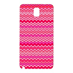 Valentine Pink And Red Wavy Chevron Zigzag Pattern Samsung Galaxy Note 3 N9005 Hardshell Back Case by PaperandFrill