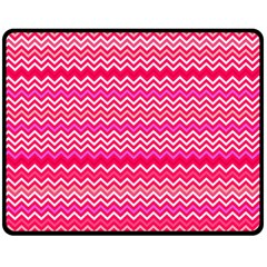 Valentine Pink And Red Wavy Chevron Zigzag Pattern Double Sided Fleece Blanket (medium)  by PaperandFrill