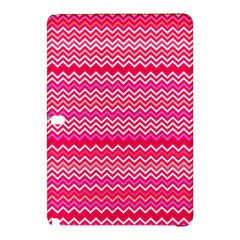 Valentine Pink And Red Wavy Chevron Zigzag Pattern Samsung Galaxy Tab Pro 10 1 Hardshell Case by PaperandFrill