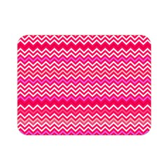 Valentine Pink And Red Wavy Chevron Zigzag Pattern Double Sided Flano Blanket (mini)  by PaperandFrill