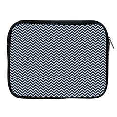 Blue And White Chevron Wavy Zigzag Stripes Apple Ipad 2/3/4 Zipper Cases