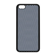 Blue And White Chevron Wavy Zigzag Stripes Apple Iphone 5c Seamless Case (black)