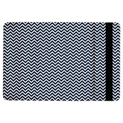 Blue And White Chevron Wavy Zigzag Stripes Ipad Air 2 Flip by PaperandFrill