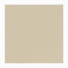 Gold And White Chevron Wavy Zigzag Stripes Medium Glasses Cloth (2 Side) by PaperandFrill