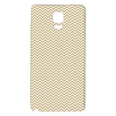 Gold And White Chevron Wavy Zigzag Stripes Galaxy Note 4 Back Case by PaperandFrill
