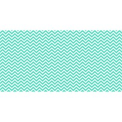 Tiffany Aqua And White Chevron Wavy Zigzag Stripes You Are Invited 3d Greeting Card (8x4)  by PaperandFrill