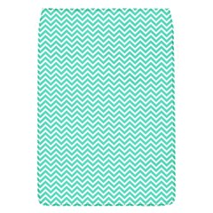 Tiffany Aqua And White Chevron Wavy Zigzag Stripes Flap Covers (s)  by PaperandFrill