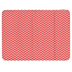 Red And White Chevron Wavy Zigzag Stripes Samsung Galaxy Tab 7  P1000 Flip Case by PaperandFrill
