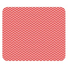 Red And White Chevron Wavy Zigzag Stripes Double Sided Flano Blanket (small)