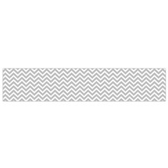 Silver And White Chevrons Wavy Zigzag Stripes Flano Scarf (small)
