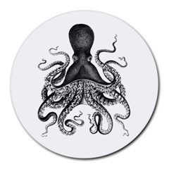 Vintage Octopus Round Mousepads by waywardmuse