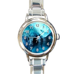 Marble Caves 3 Round Italian Charm Watches by trendistuff