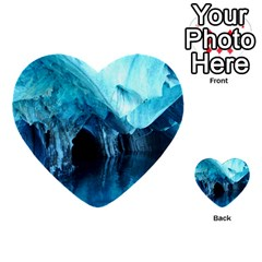 Marble Caves 3 Multi Purpose Cards (heart)  by trendistuff