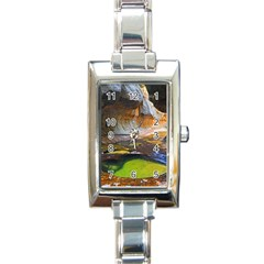 Left Fork Creek Rectangle Italian Charm Watches by trendistuff