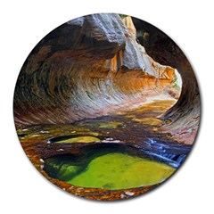 Left Fork Creek Round Mousepads by trendistuff