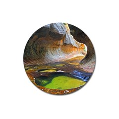 Left Fork Creek Magnet 3  (round) by trendistuff
