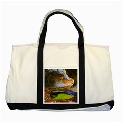 Left Fork Creek Two Tone Tote Bag  by trendistuff
