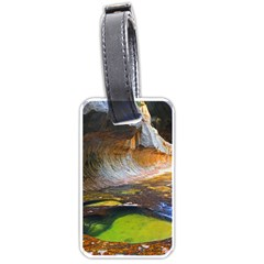 Left Fork Creek Luggage Tags (one Side)  by trendistuff