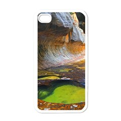 Left Fork Creek Apple Iphone 4 Case (white) by trendistuff