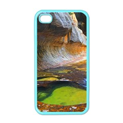 Left Fork Creek Apple Iphone 4 Case (color) by trendistuff