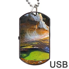 Left Fork Creek Dog Tag Usb Flash (two Sides)  by trendistuff