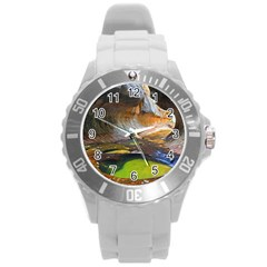 Left Fork Creek Round Plastic Sport Watch (l) by trendistuff