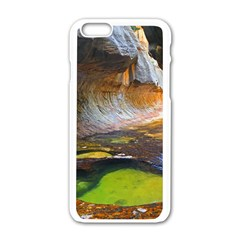 Left Fork Creek Apple Iphone 6/6s White Enamel Case by trendistuff
