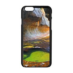 Left Fork Creek Apple Iphone 6/6s Black Enamel Case by trendistuff